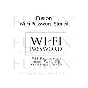 Wifi password Stencil - Artsans