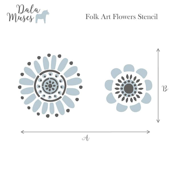 Folk Art Flowers Stencil Artsans