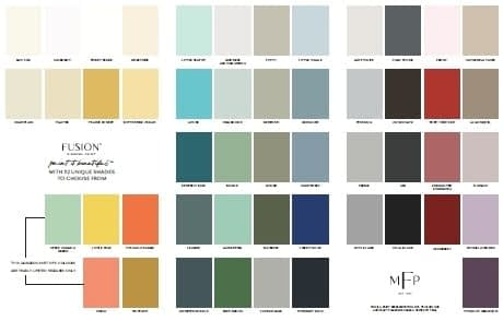 Color Card Fusion Mineral Paint